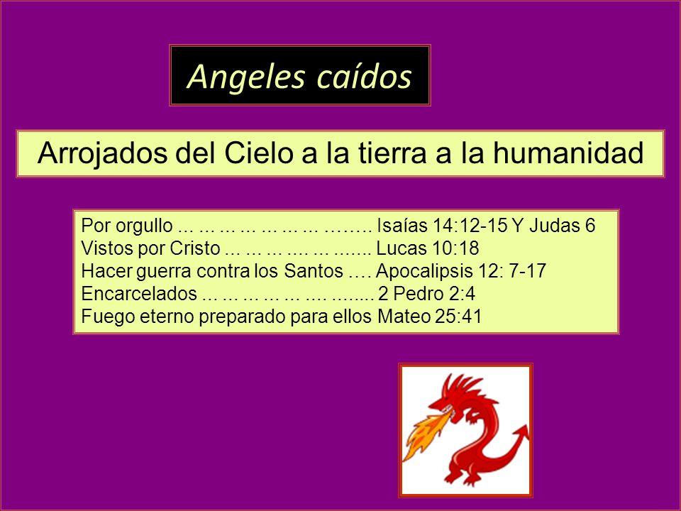 Arrojados del Cielo a la tierra a la humanidad
