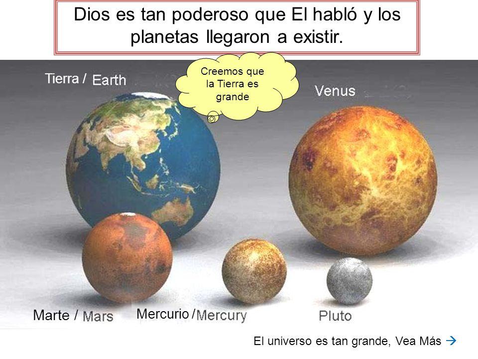 Dios es tan poderoso que El habló y los planetas llegaron a existir.