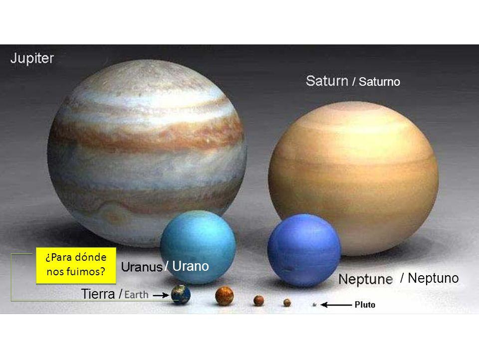 / Saturno ¿Para dónde nos fuimos / Urano / Neptuno Tierra /