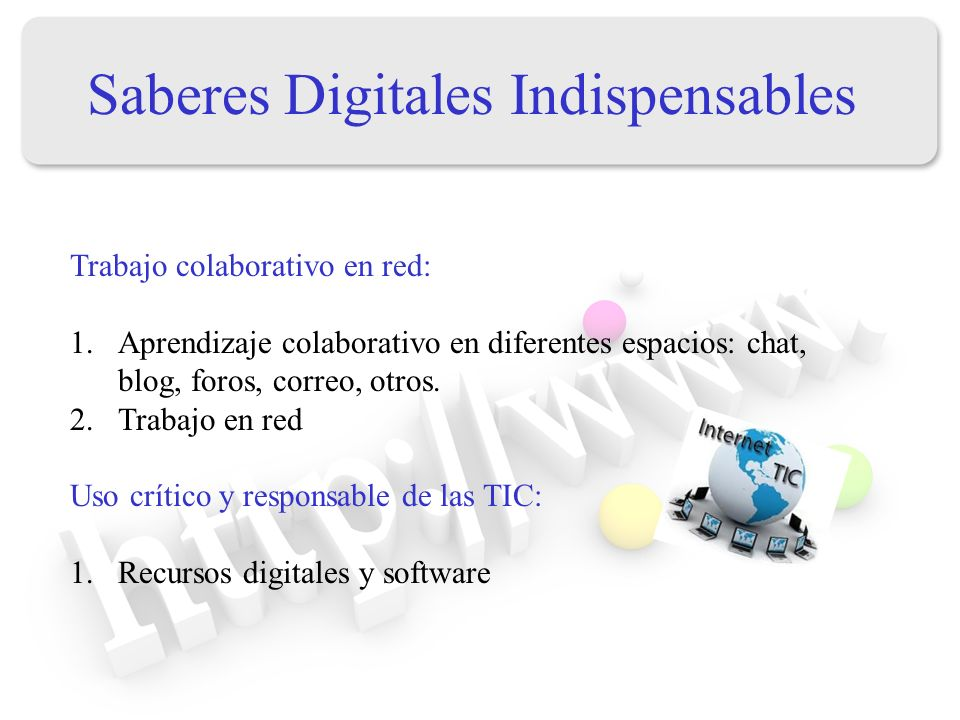 Saberes Digitales Indispensables