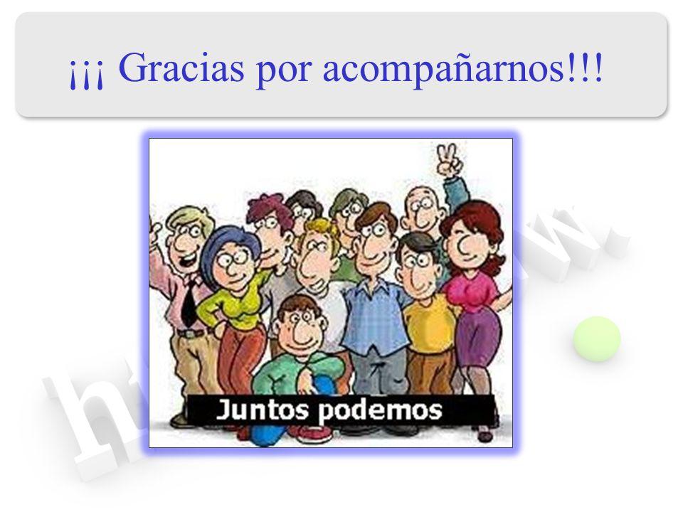 ¡¡¡ Gracias por acompañarnos!!!