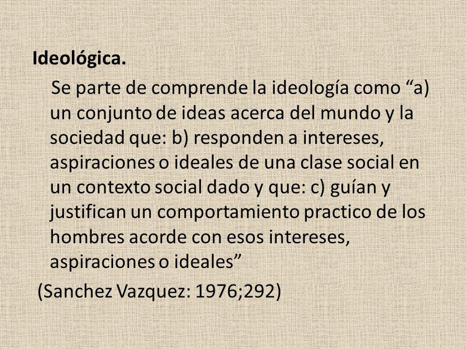 Ideológica.