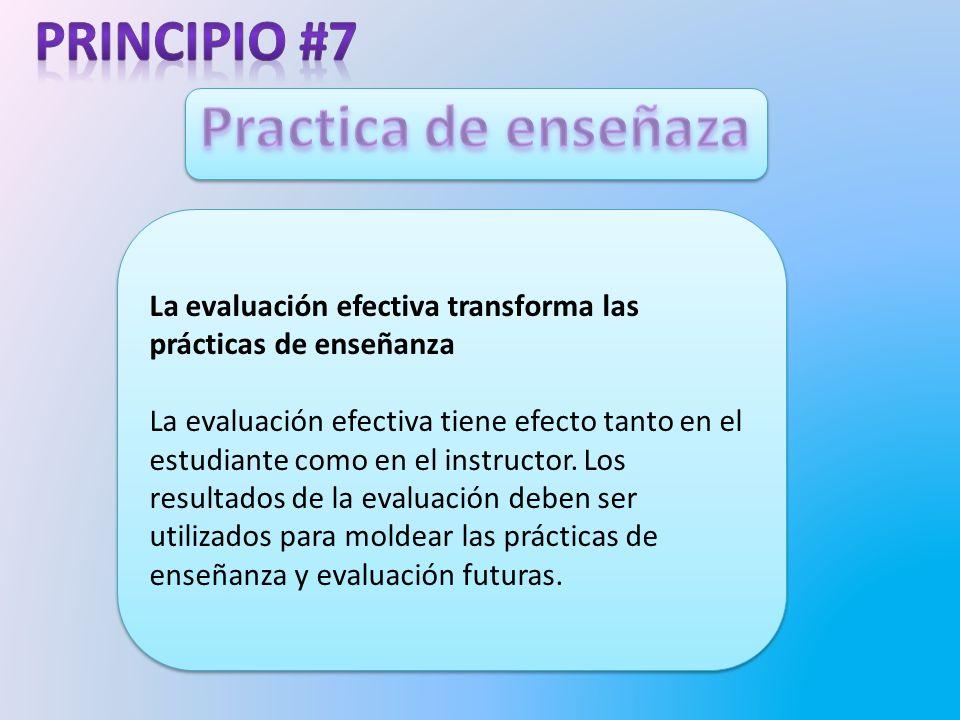 Practica de enseñaza Principio #7