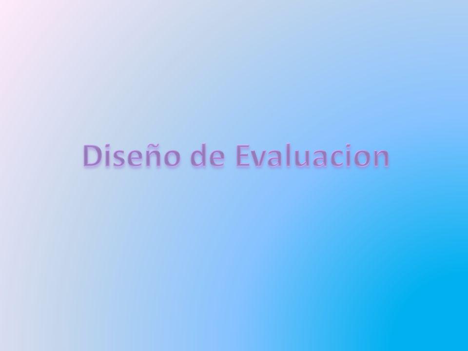 Diseño de Evaluacion
