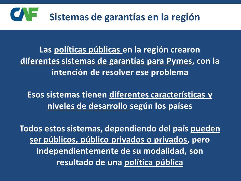Sistemas de garantías en la región