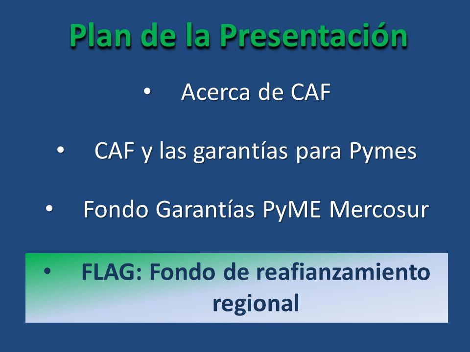Plan de la Presentación FLAG: Fondo de reafianzamiento regional