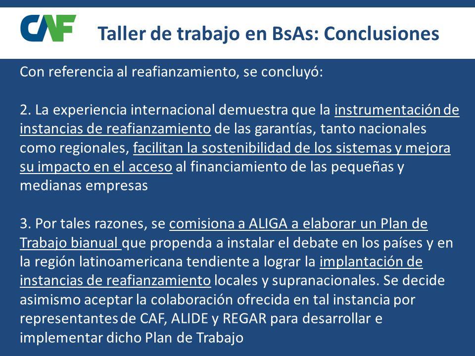 Taller de trabajo en BsAs: Conclusiones