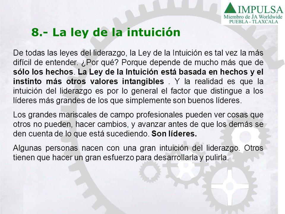 8.- La ley de la intuición