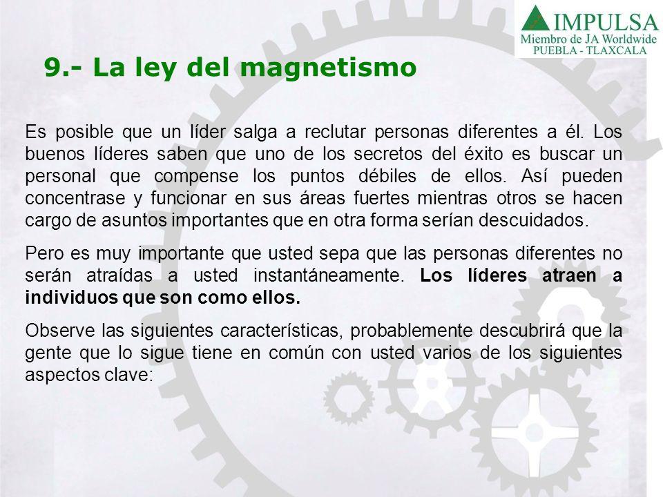 9.- La ley del magnetismo