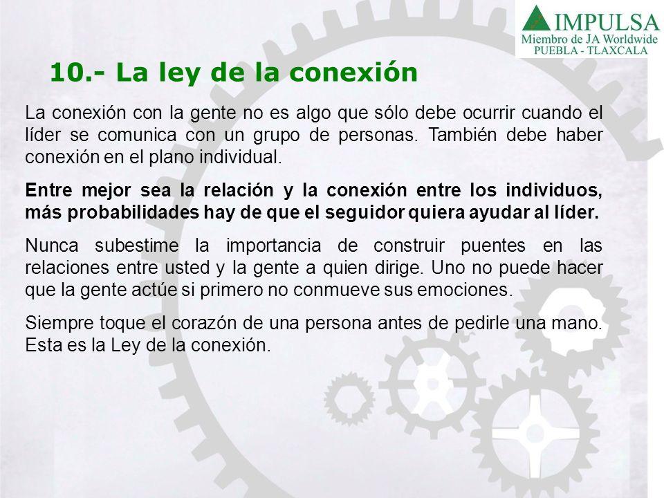 10.- La ley de la conexión