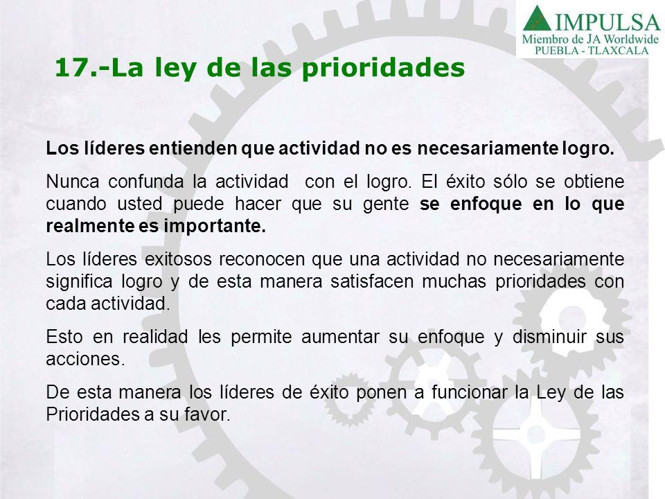 17.-La ley de las prioridades