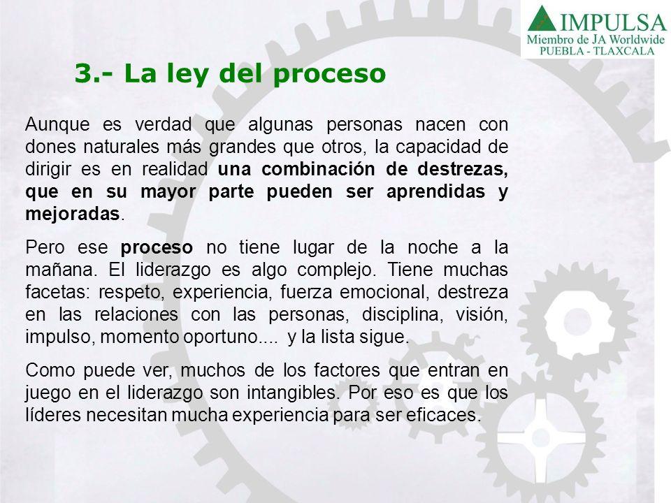 3.- La ley del proceso
