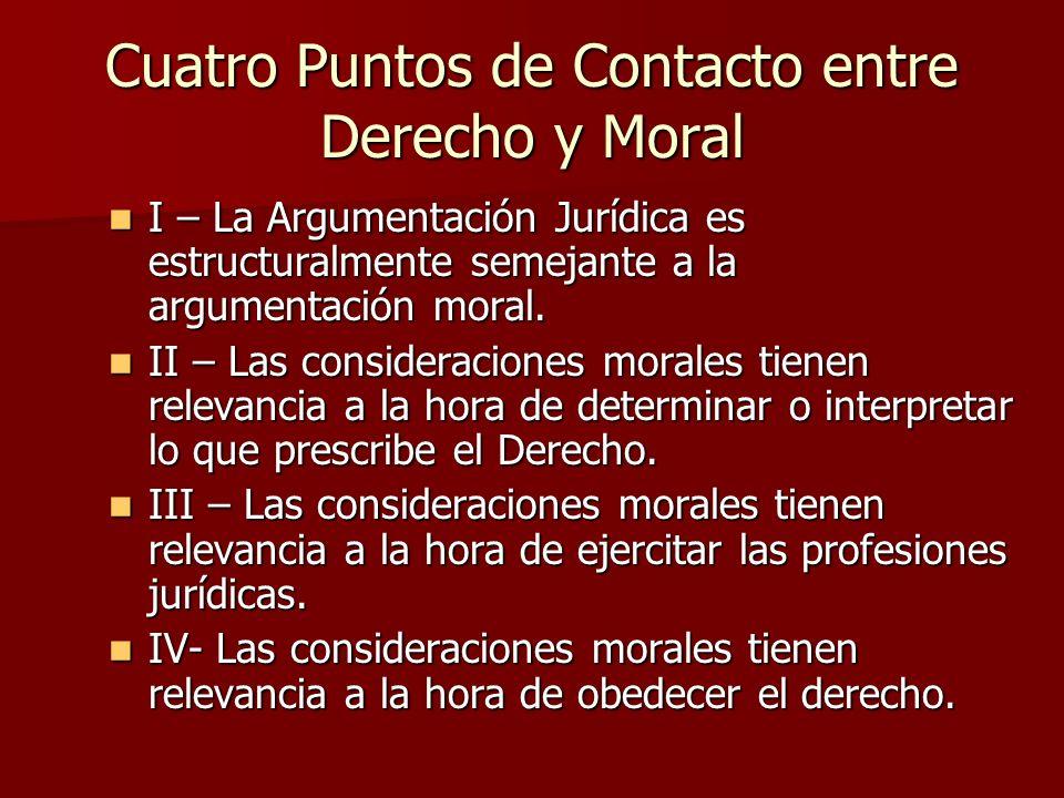 Cuatro Puntos de Contacto entre Derecho y Moral