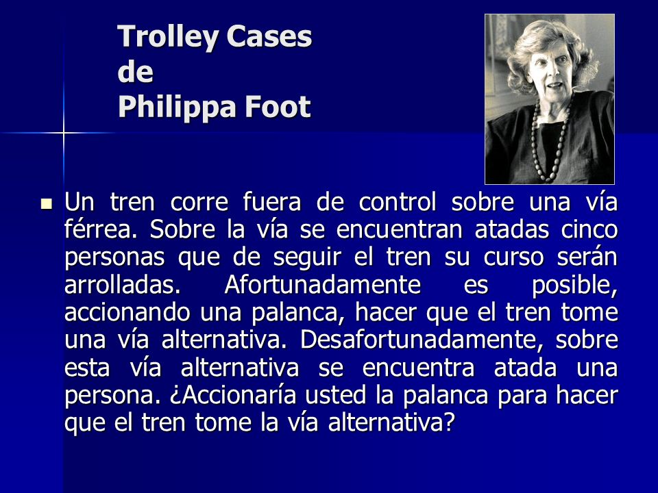 Trolley Cases de Philippa Foot