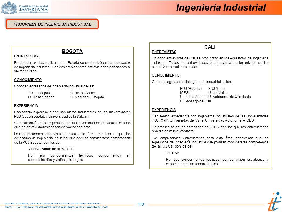 PROGRAMA DE INGENIERÍA INDUSTRIAL
