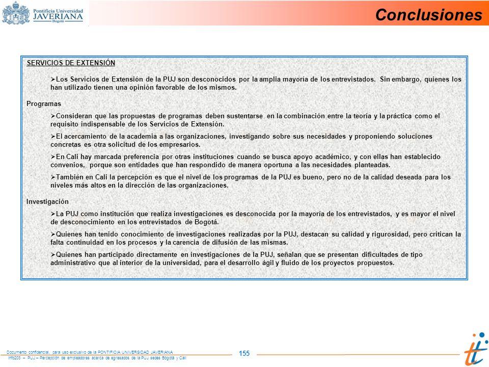 Conclusiones 155 SERVICIOS DE EXTENSIÓN