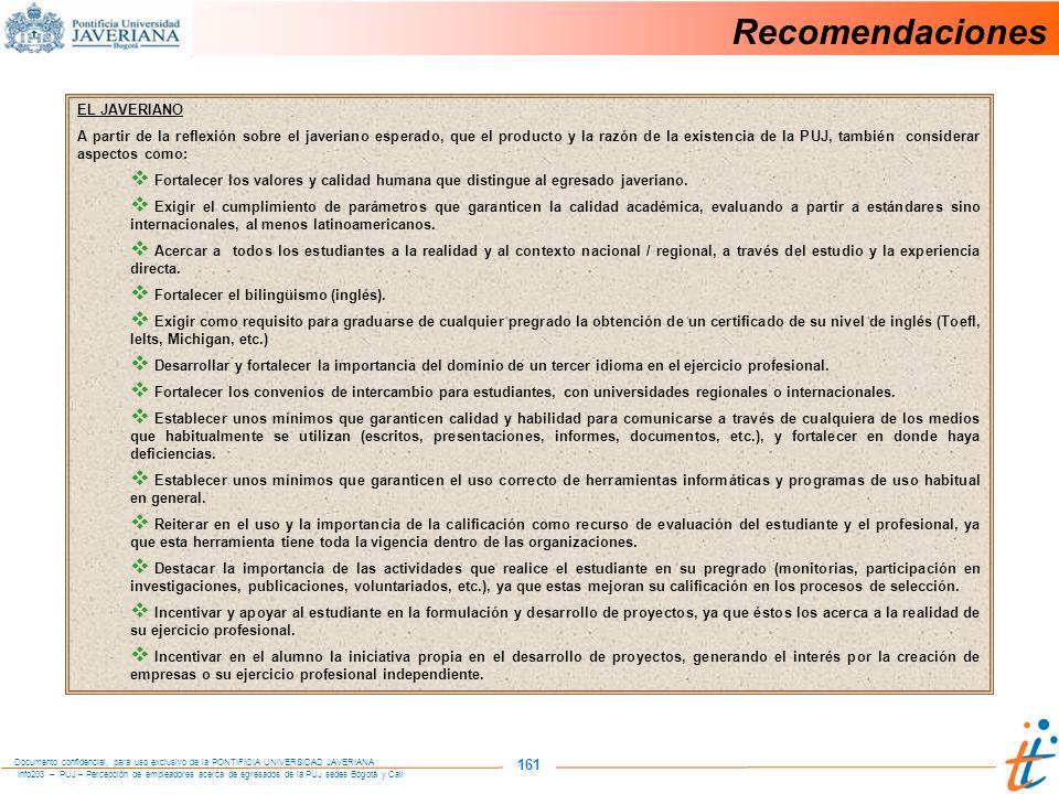 Recomendaciones 161 EL JAVERIANO