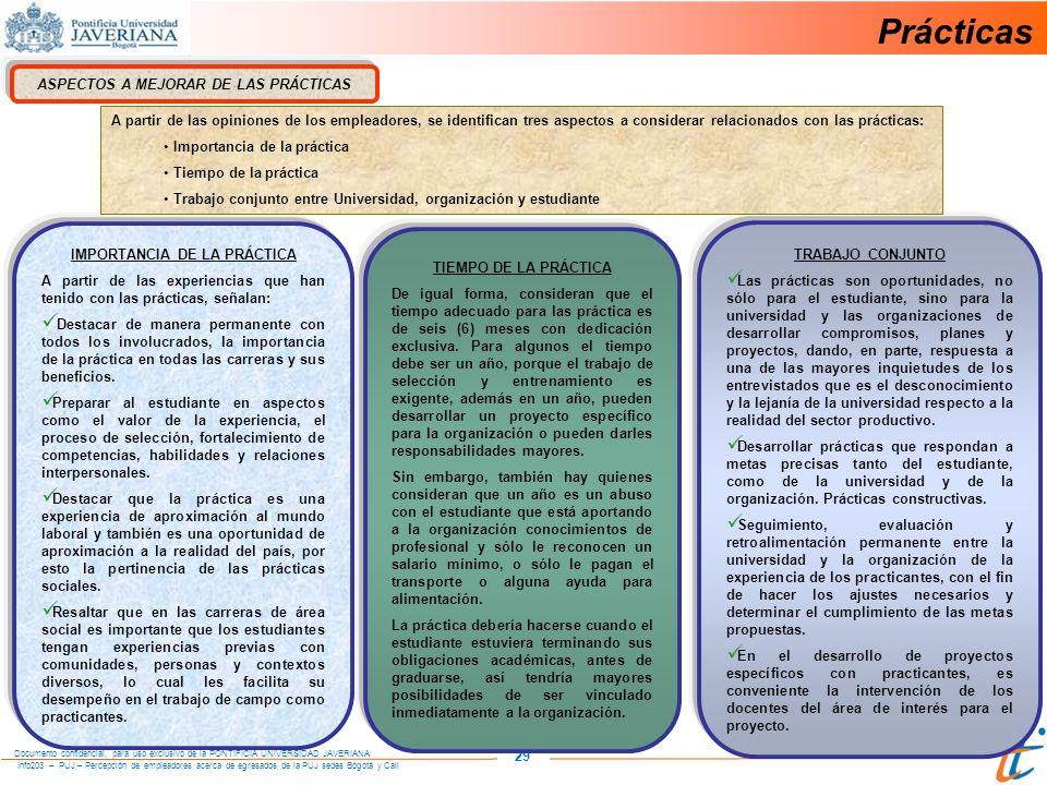 ASPECTOS A MEJORAR DE LAS PRÁCTICAS IMPORTANCIA DE LA PRÁCTICA