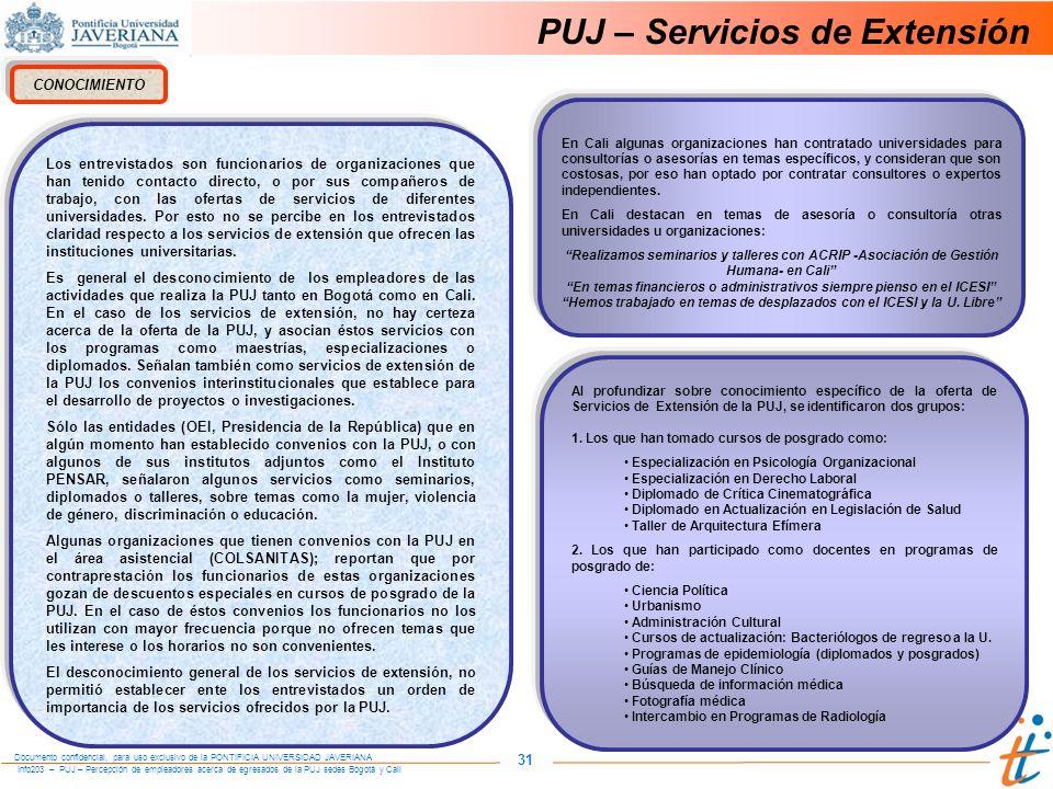 PUJ – Servicios de Extensión