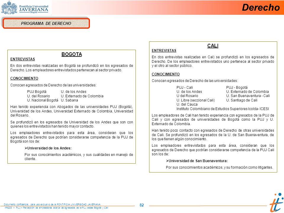 Derecho CALI BOGOTA 82 PROGRAMA DE DERECHO ENTREVISTAS