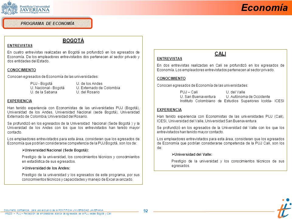Economía BOGOTÁ CALI 92 PROGRAMA DE ECONOMÍA ENTREVISTAS