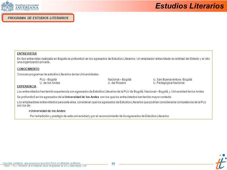 PROGRAMA DE ESTUDIOS LITERARIOS