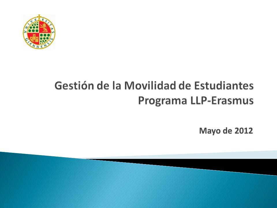 Gestión de la Movilidad de Estudiantes Programa LLP-Erasmus
