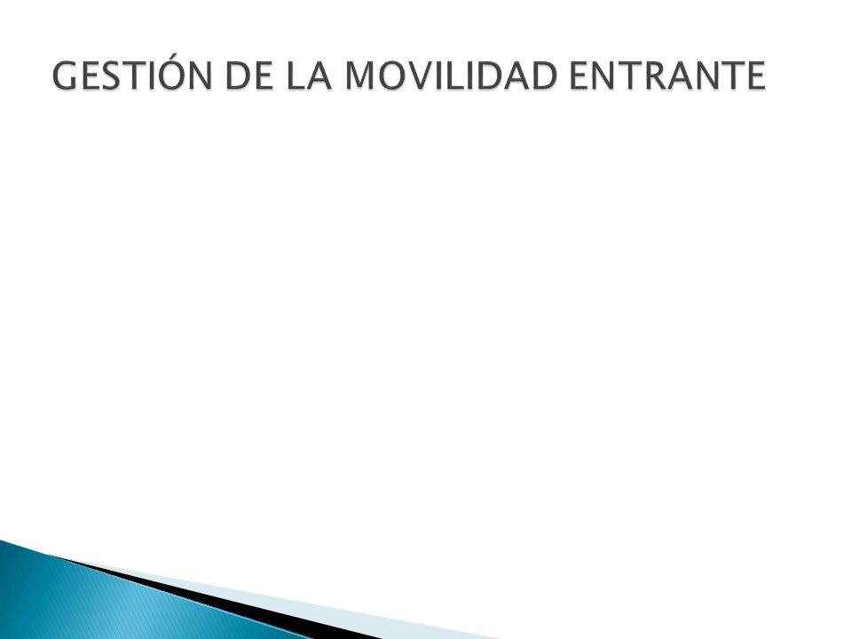 GESTIÓN DE LA MOVILIDAD ENTRANTE