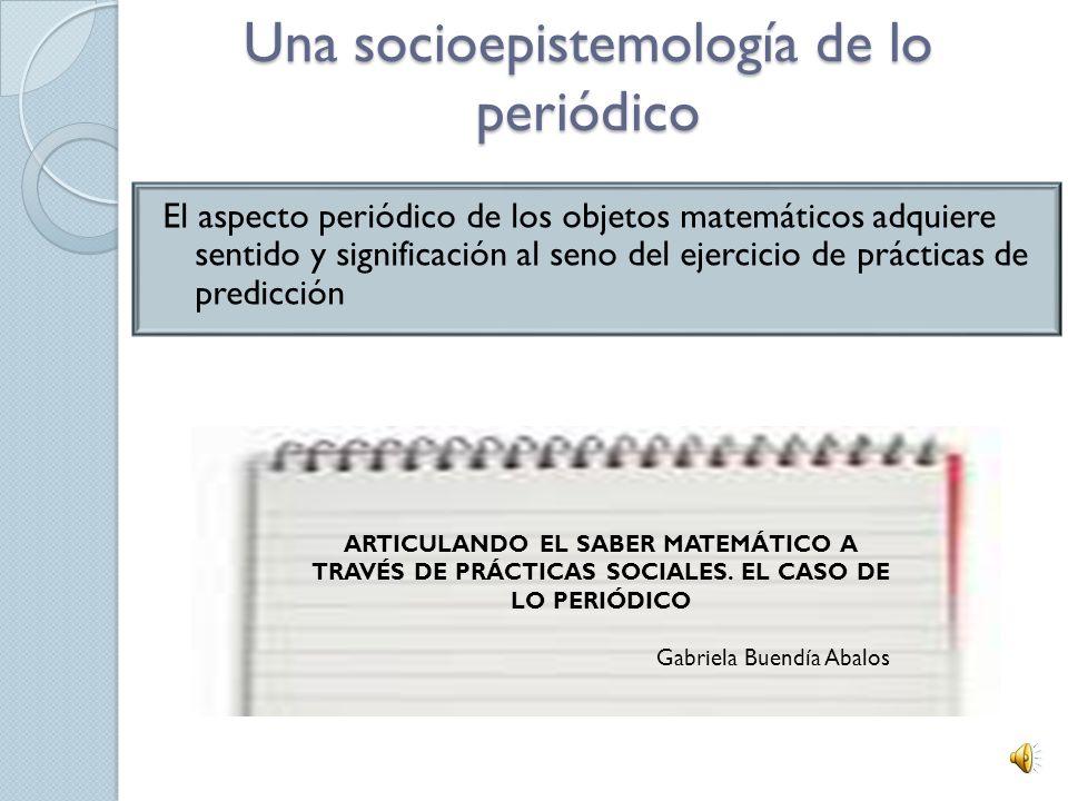 Una socioepistemología de lo periódico