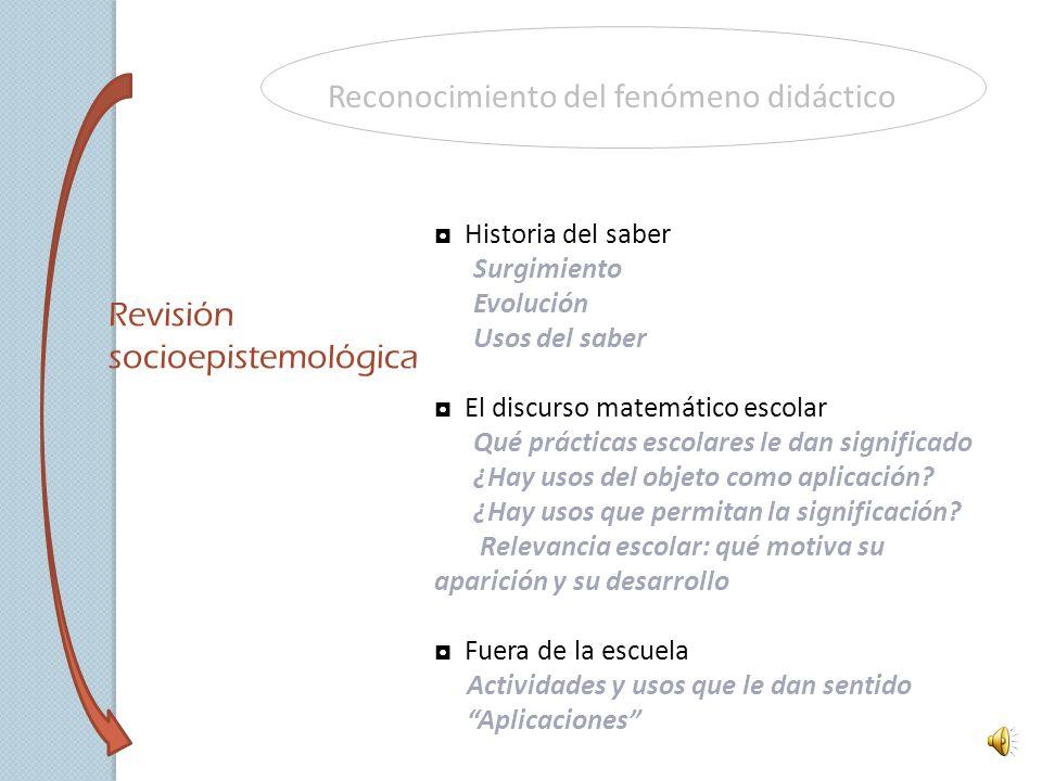 Reconocimiento del fenómeno didáctico