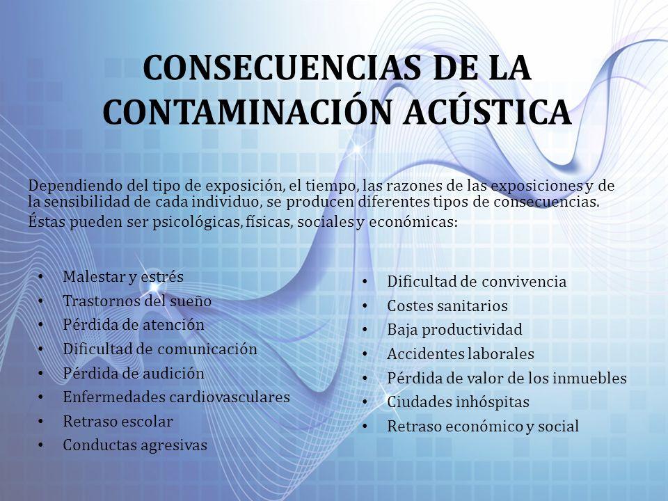 CONSECUENCIAS DE LA CONTAMINACIÓN ACÚSTICA