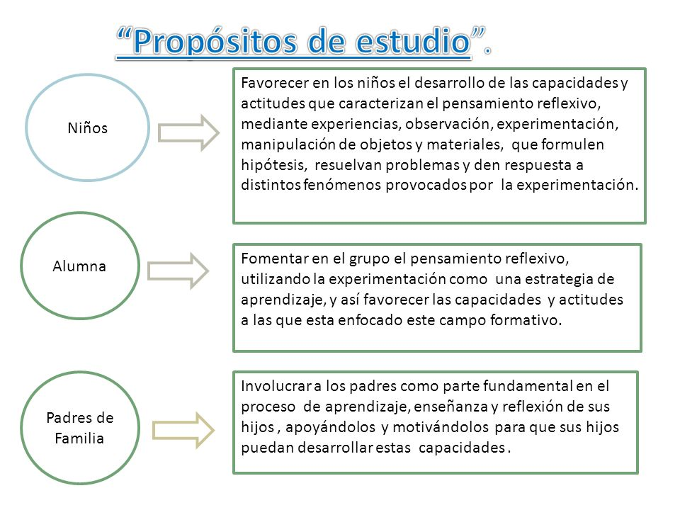 Propósitos de estudio .