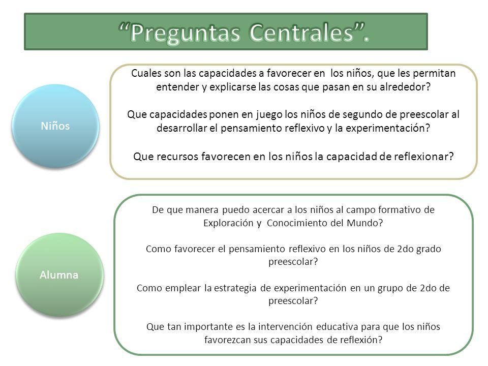 Preguntas Centrales .