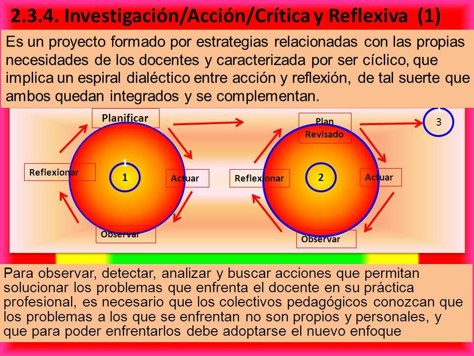 2.3.4. Investigación/Acción/Crítica y Reflexiva (1)