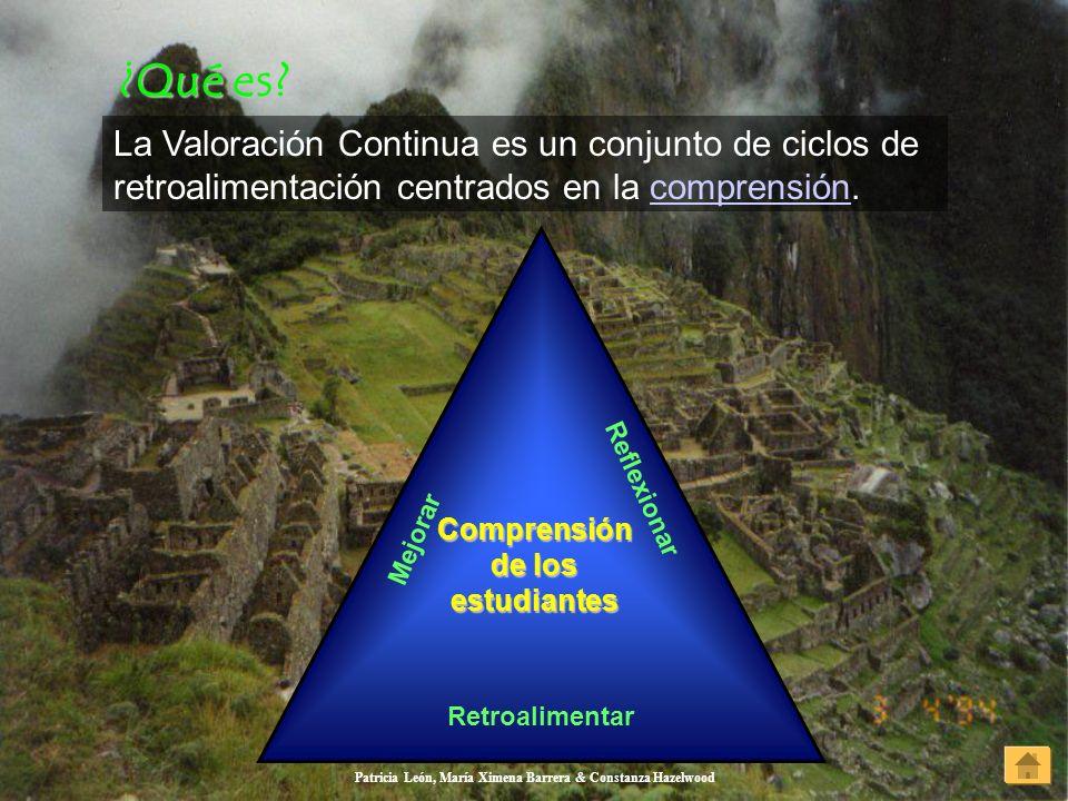 ¿Qué es La Valoración Continua es un conjunto de ciclos de retroalimentación centrados en la comprensión.