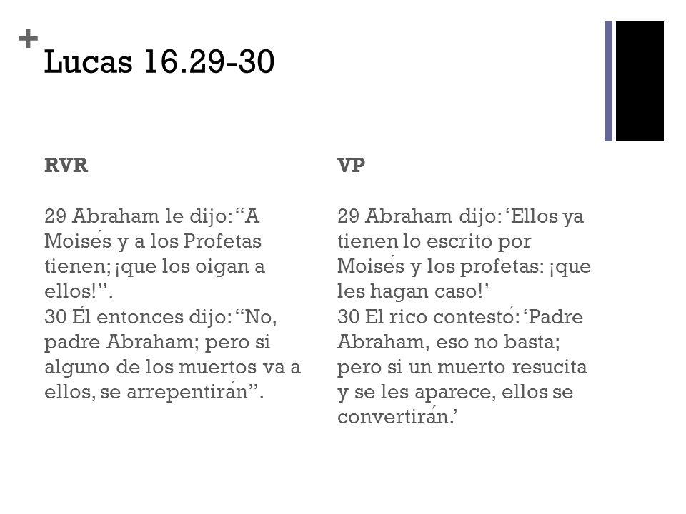 Lucas 16.29-30