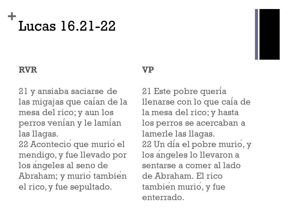 Lucas 16.21-22