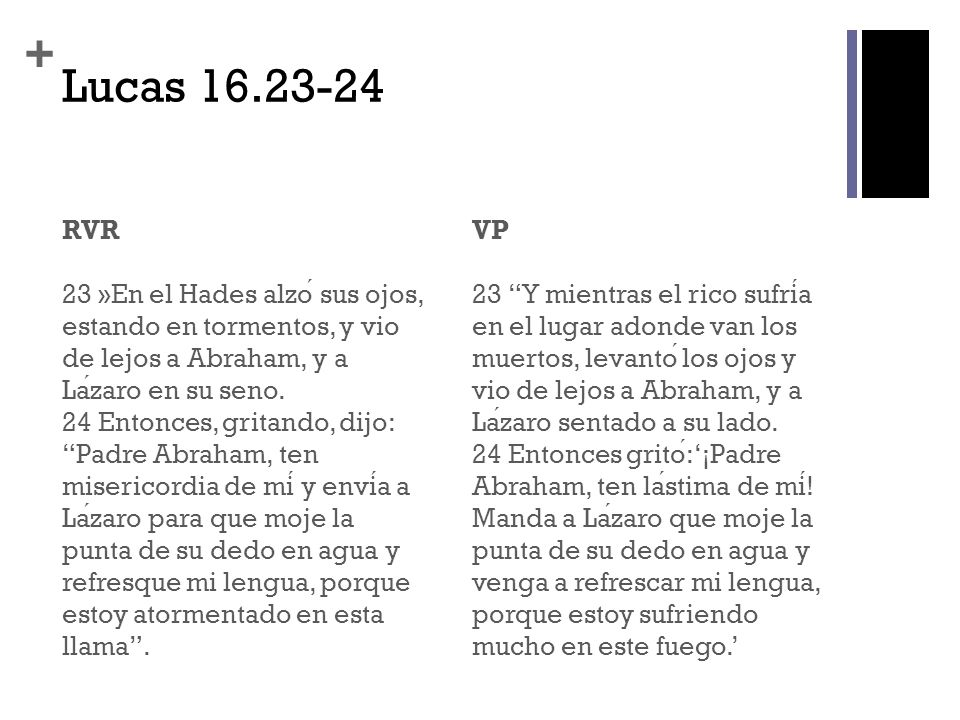 Lucas 16.23-24