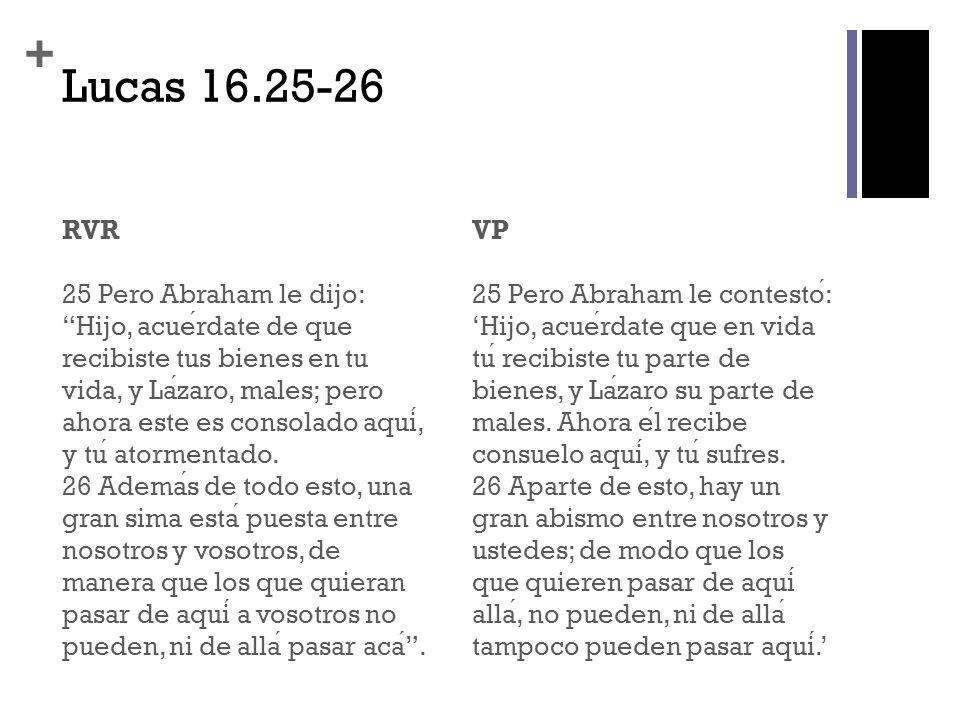 Lucas 16.25-26