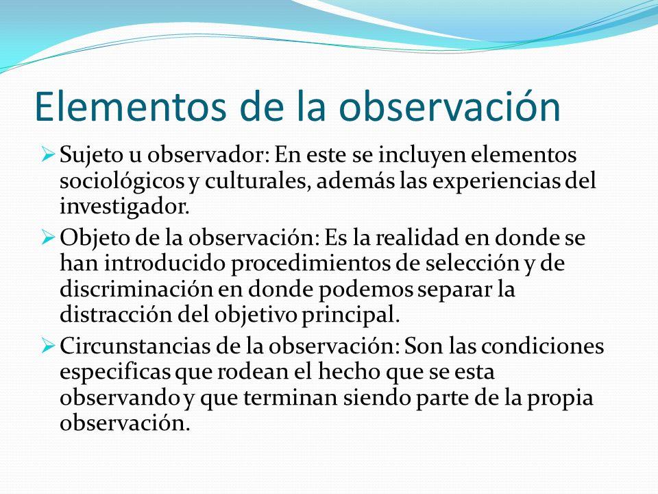 Elementos de la observación