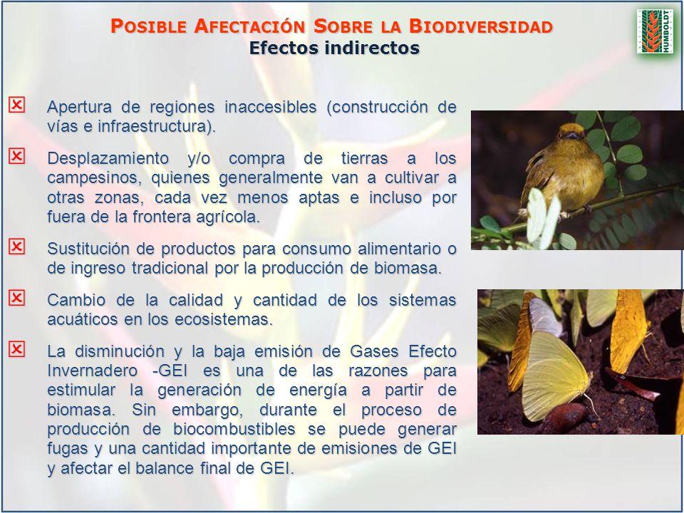 Posible Afectación Sobre la Biodiversidad