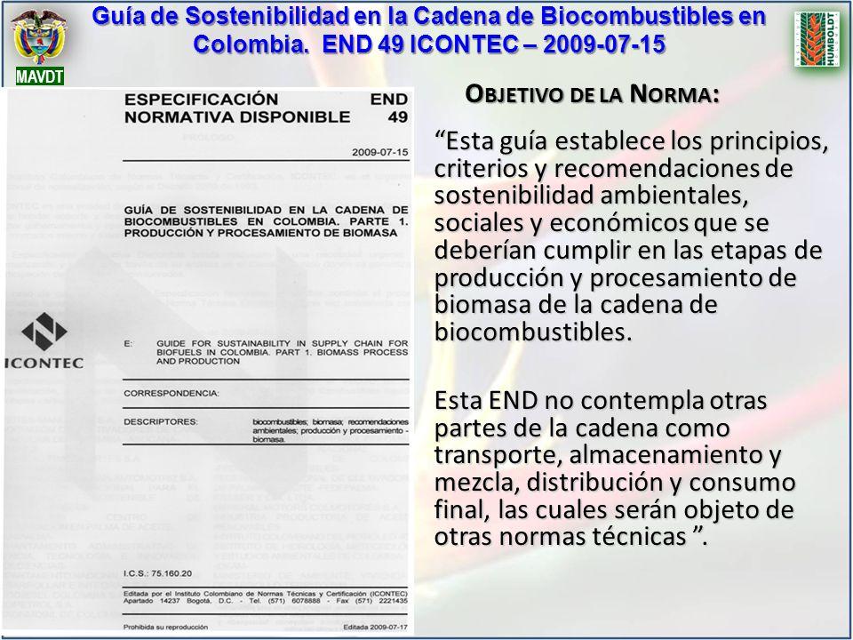 Guía de Sostenibilidad en la Cadena de Biocombustibles en Colombia