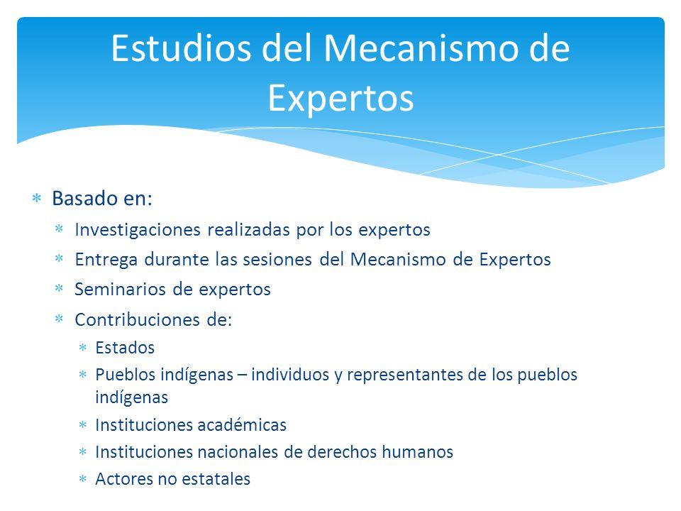 Estudios del Mecanismo de Expertos