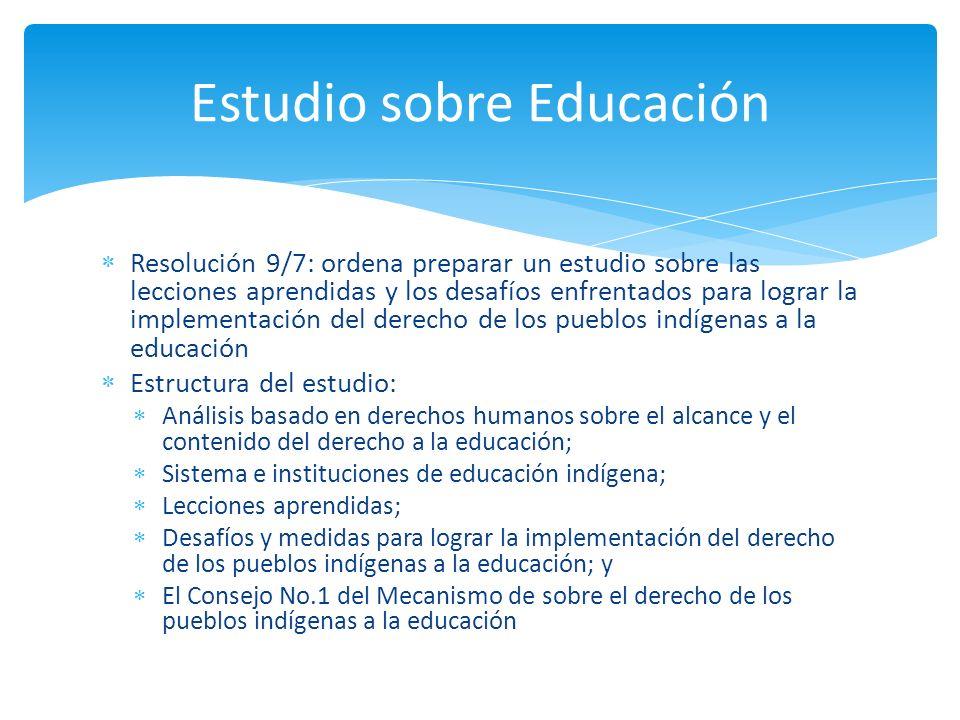 Estudio sobre Educación