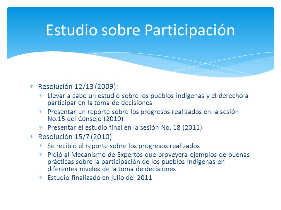 Estudio sobre Participación