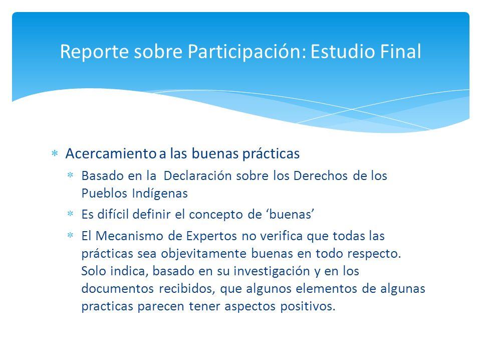 Reporte sobre Participación: Estudio Final