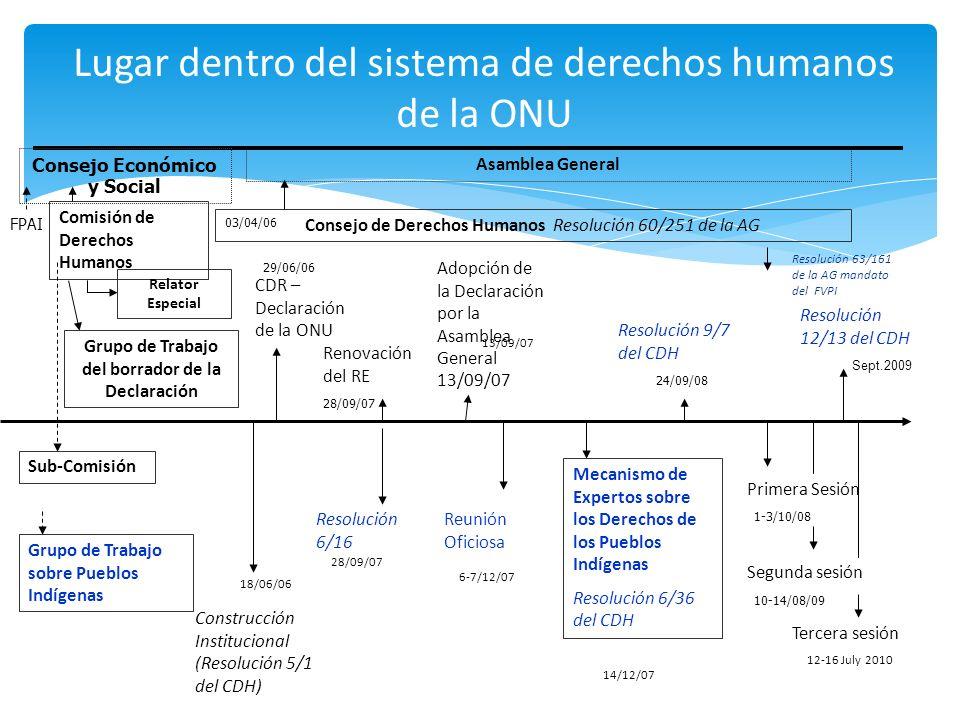 Lugar dentro del sistema de derechos humanos de la ONU