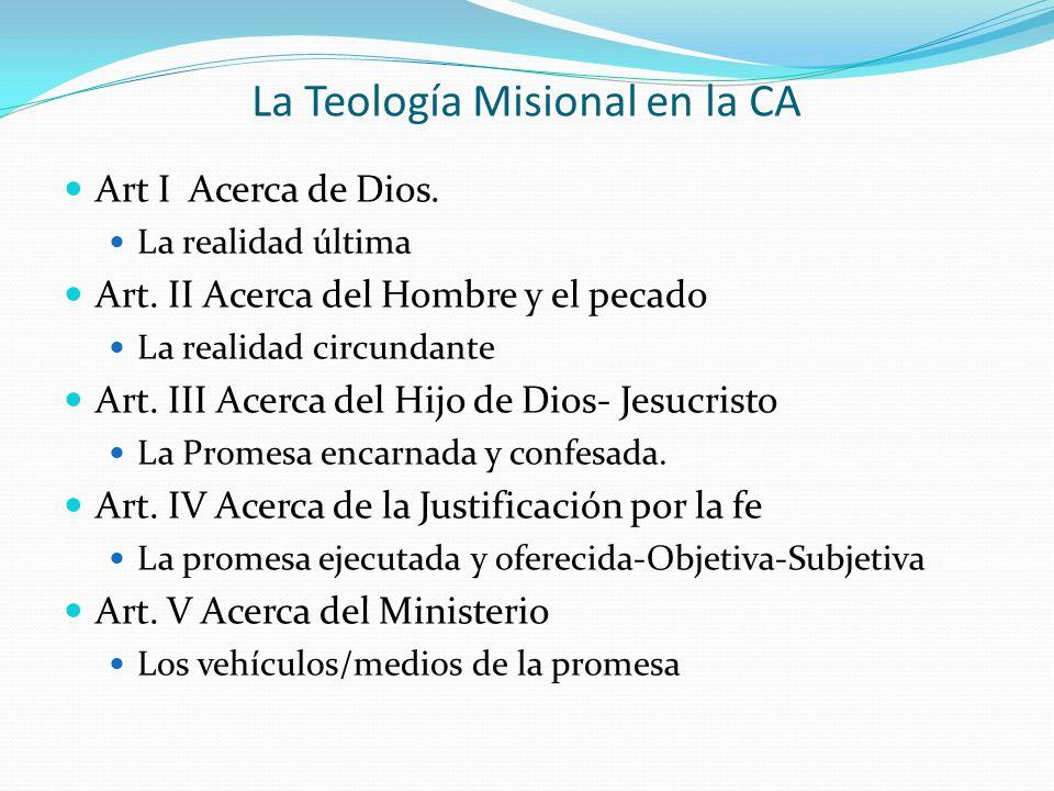 La Teología Misional en la CA