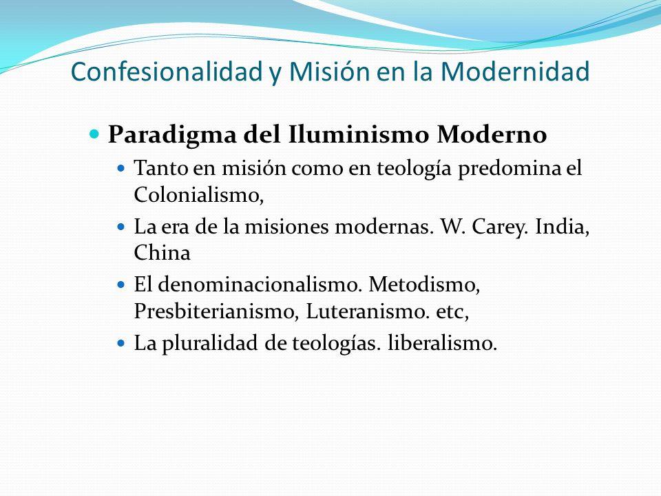 Confesionalidad y Misión en la Modernidad