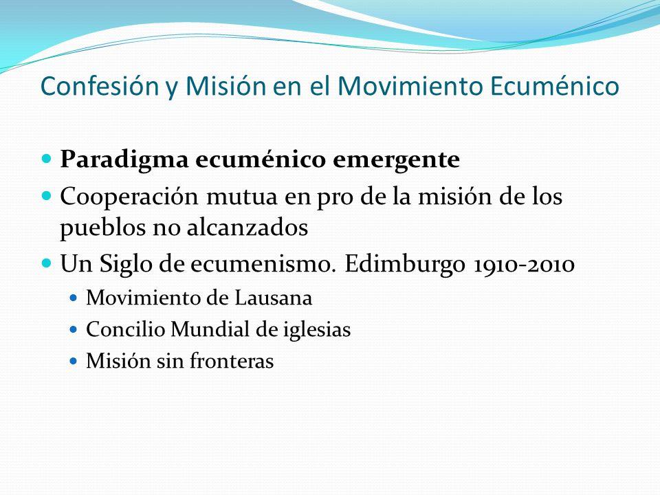 Confesión y Misión en el Movimiento Ecuménico
